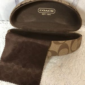 Coach Glasses Case With Coach Cloth